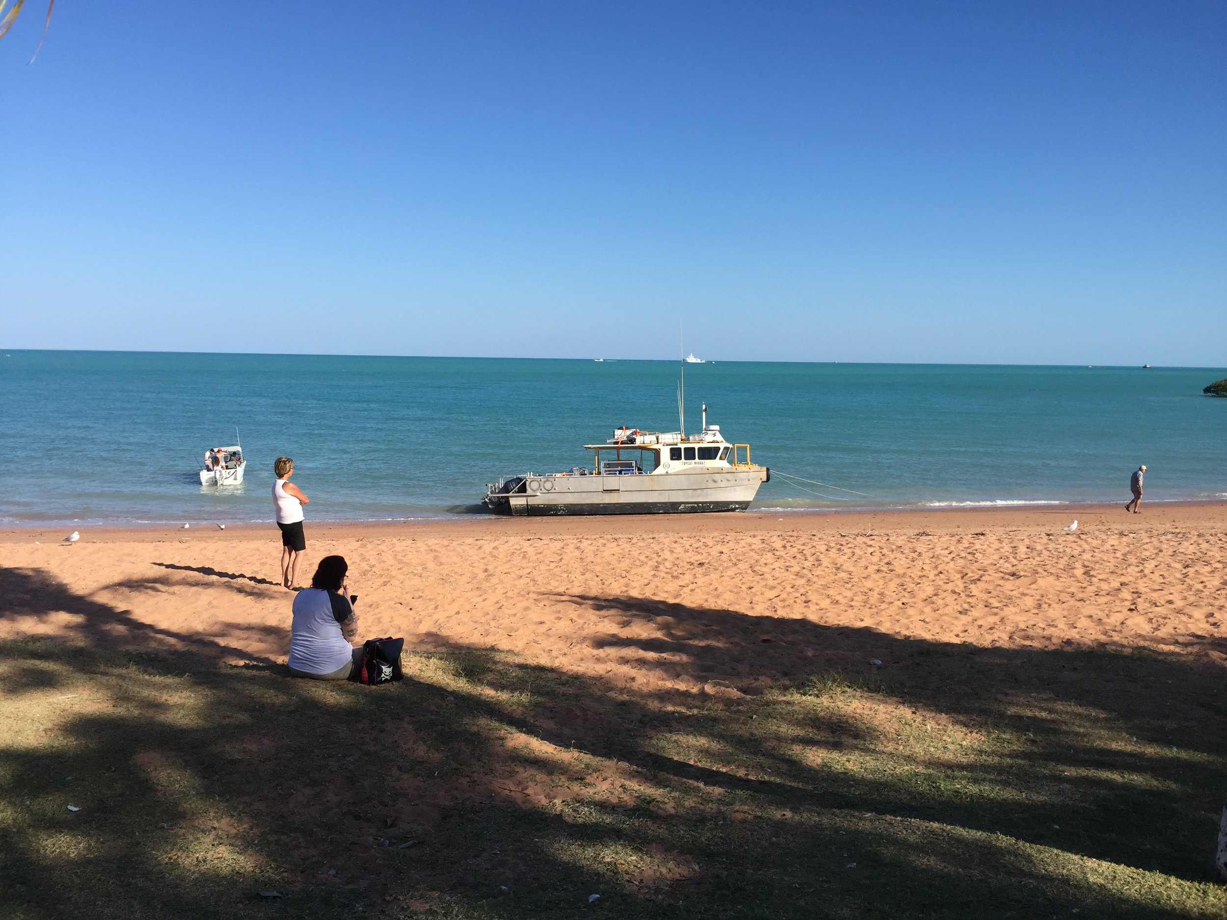 Stopping for a cup of tea near too Broome, Western Australia.