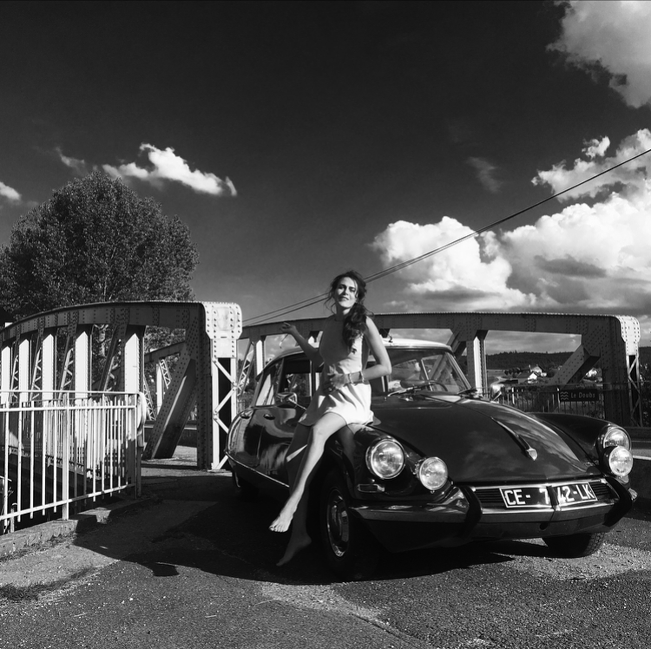 """60's babies - The story between Marie-Mobile and I started when I decided to adopt her in Deauville. Our first road-trip together was magic, we crossed France from west to east in three days, using the national roads and going through the French countryside. In my family, we already have an old Jaguar & 4CV so I had something else in mind and was glad to find her... I've always believed that design in the 60s is creative, innovative and free-minded. In 1960, fashion took power and Cardin, Courrèges, Peter Knapp are the kings: a fascinating bubbling artistic life which inspired me a lot. Likewise, the DS mesmerised me, so I got myself the ultimate """"à la Française"""" French car!"""