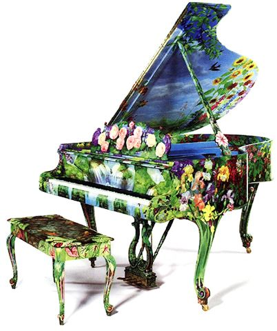 Piano Painting - Join in on the active of painting a baby grand piano and making it a musical work of art!