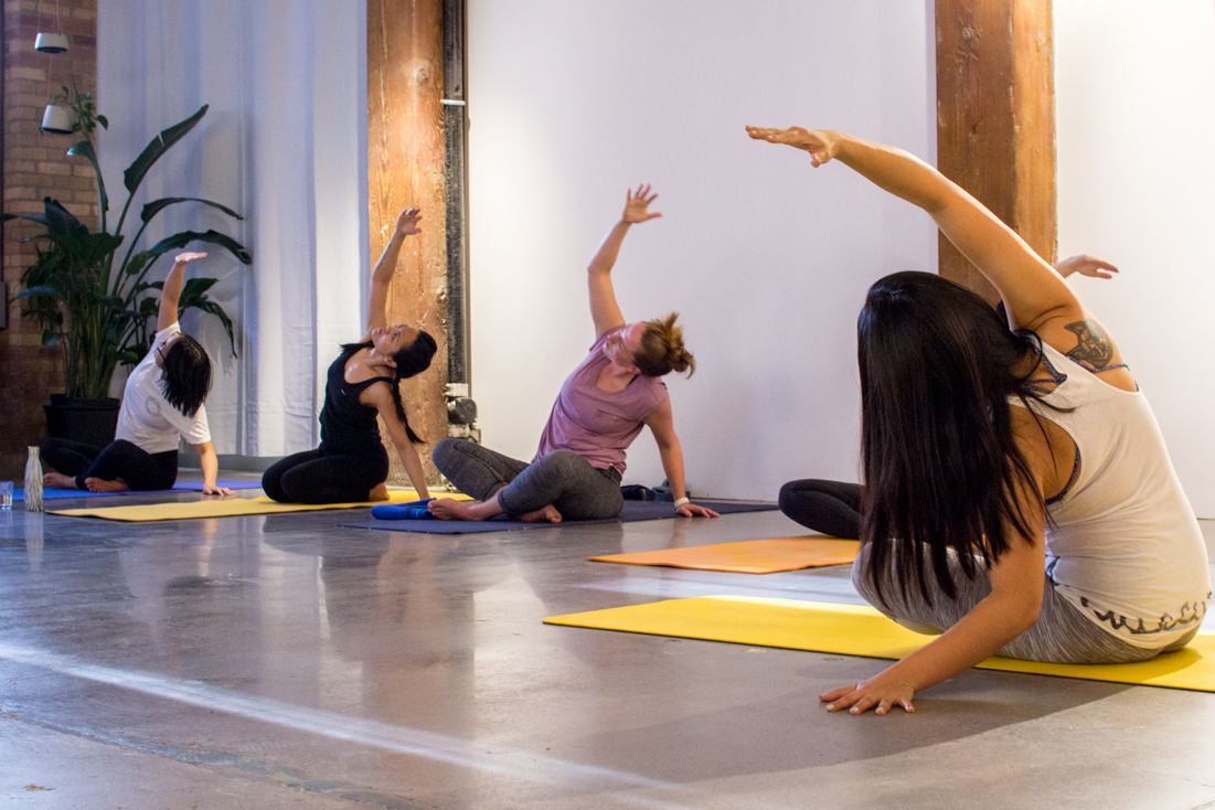 Yoga  at coworking space,   By Good Gorilla The Station  , 401 Richmond, Toronto, ON