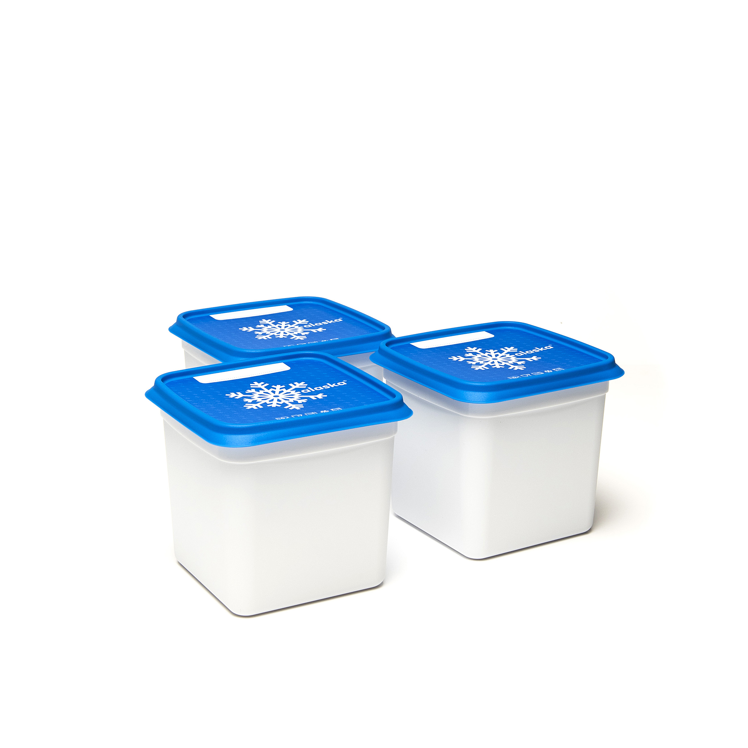 Alaska®1000ml(set1x3) - .... Got lots to freeze? Then these Alaska® freezer boxes will be a great help. They will save space in your freezer, can be stacked on top and inside each other. You can find them in every format imaginable and can easily write the contents on the outside. Dirty? Pop them in the dishwasher and they will be as good as new. .. Beaucoup d'aliments à congeler ? Ces boîtes de congélation Alaska® sont faites pour cela. Elles vous font gagner de la place dans votre congélateur, sont empilables mais aussi emboîtables. Disponibles dans tous les formats imaginables, on peut aussi y mentionner le contenu facilement. Sales ? Mettez-les dans le lave-vaisselle et elles en sortiront comme neuves. .. Veel in te vriezen? Dan zijn deze Alaska®-vriesdozen jouw redder in nood. Ze besparen plek in je diepvriezer, zijn stapelbaar én nestbaar. Je vindt ze in elk denkbaar formaat en schrijft er vlotjes de inhoud op. Vuil? Stop ze in de vaatwasmachine en ze zijn weer als nieuw. .. Sie haben viel zum Einfrieren? Dann sind diese Alaska®-Tiefkühlbehälter Ihr Retter in der Not. Sie sparen Platz im Tiefkühlschrank, sind stapel- und schachtelbar. Es gibt sie in jedem denkbaren Format und sie lassen sich leicht beschriften. Schmutzig? Geben Sie sie in die Spülmaschine und sie sind wieder wie neu. ....