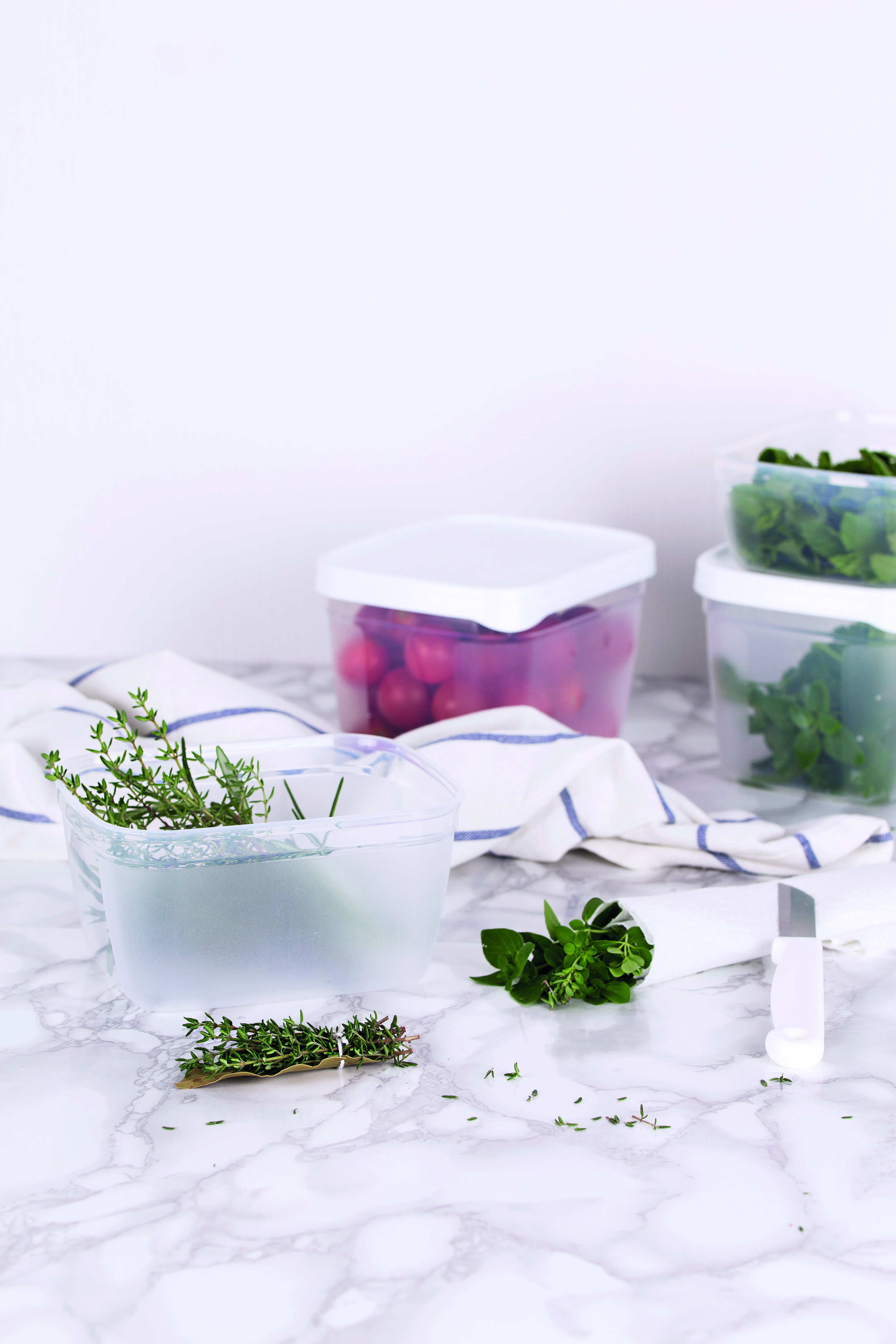Amuse Tip - .... TIP 1 Want to keep your herbs fresh for as long as possible? Wrap them in damp kitchen roll and they will remain fresh for days. .. CONSEIL 1 Conserver vos fines herbes fraîches le plus longtemps possible ? Emballez-les dans de l'essuie-tout humide. Elles resteront fraîches de nombreux jours encore. .. TIP 1 Verse kruiden bewaar je graag zo lang mogelijk. Wikkel ze in vochtig keukenpapier, dan blijven ze nog dagen goed. .. TIPP 1 Frische Kräuter bewahren Sie gern so lange wie möglich. Wickeln Sie sie in feuchtes Küchenpapier, dann bleiben sie noch tagelang frisch. .... .... TIP 2 Made a salad with avocado? Store the cut avocado in the fridge together with some slices of onion. Strange but true: in doing so the avocado will retain its colour for longer. .. CONSEIL 2 Une petite salade à l'avocat ? Conservez au frigo le fruit découpé avec un oignon coupé. Curieux mais vrai : l'avocat conservera ainsi sa couleur plus longtemps. .. TIP 2 Slaatje gemaakt met avocado? Bewaar het aangesneden stuk samen met gesneden ui in de koelkast. Raar maar waar: de avocado behoudt zo langer zijn kleur. .. TIPP 2 Salat mit Avocado gemacht? Bewahren Sie das angeschnittene Stück mit einer geschnittenen Zwiebel im Kühlschrank auf. Merkwürdig, aber wahr: Die Avocado behält so länger ihre Farbe. ....