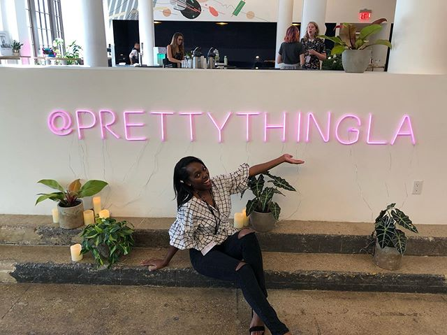 Today was nothing short of ENLIGHTENING! Congrats to @prettythingla for their inaugural #anticonference in #nyc today. Crazy how the world work as well- got to see @rachelkgrim in really life today 😱! I'm so glad to not only attend and hear some helpful career advice, but to help with event logistics and catering. Thank you @myahhollis for everything 🥰