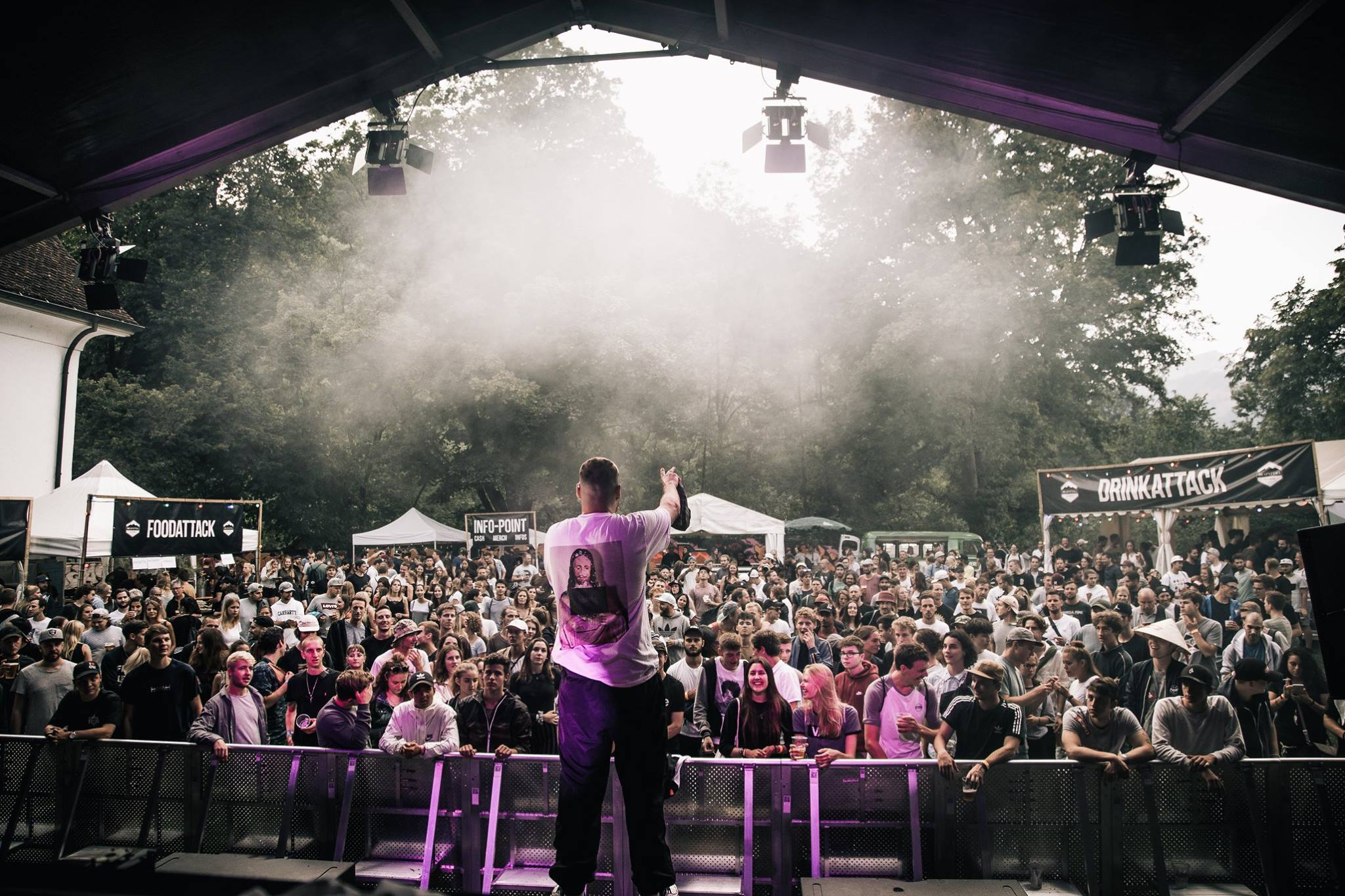 La Base & TruComers am Rapattack Festival 2018. Fotograf: Valentin Kathriner