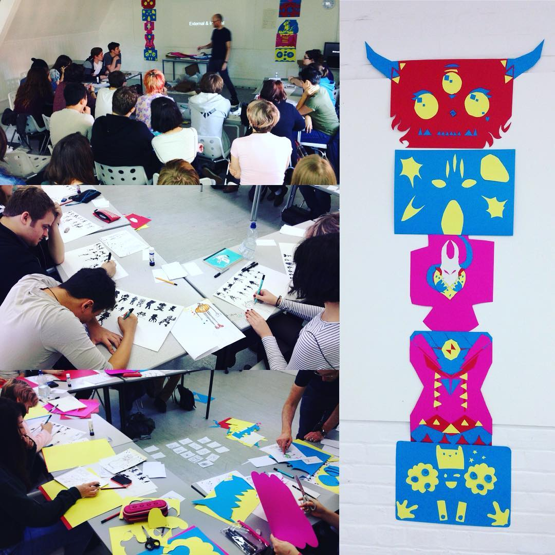 Character Design workshop with Year 1 NUA Animation students