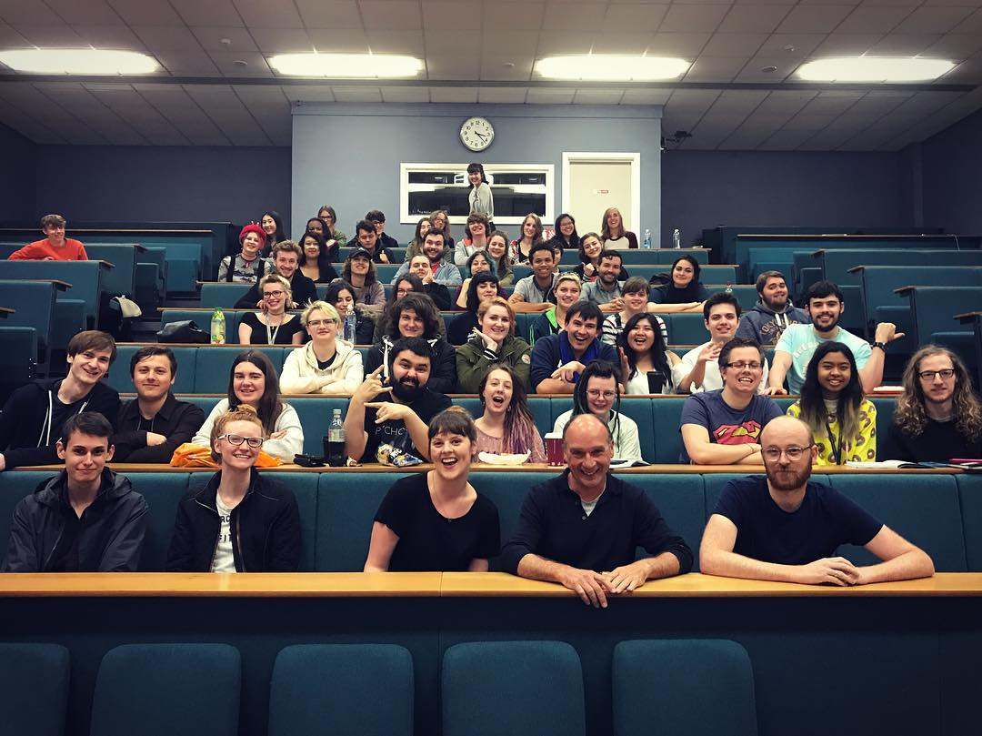 Students and course team at NUA animation