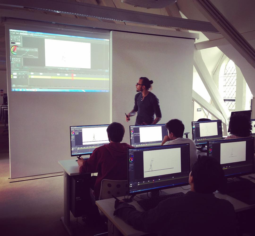 Animator Robin Fuller delivers a technical masterclass at NUA.