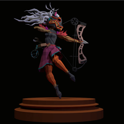 Low poly game character model by graduate Lou Singfield.