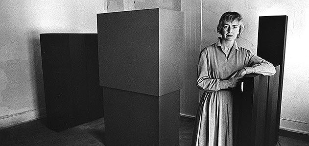 Anne Truitt in the studio