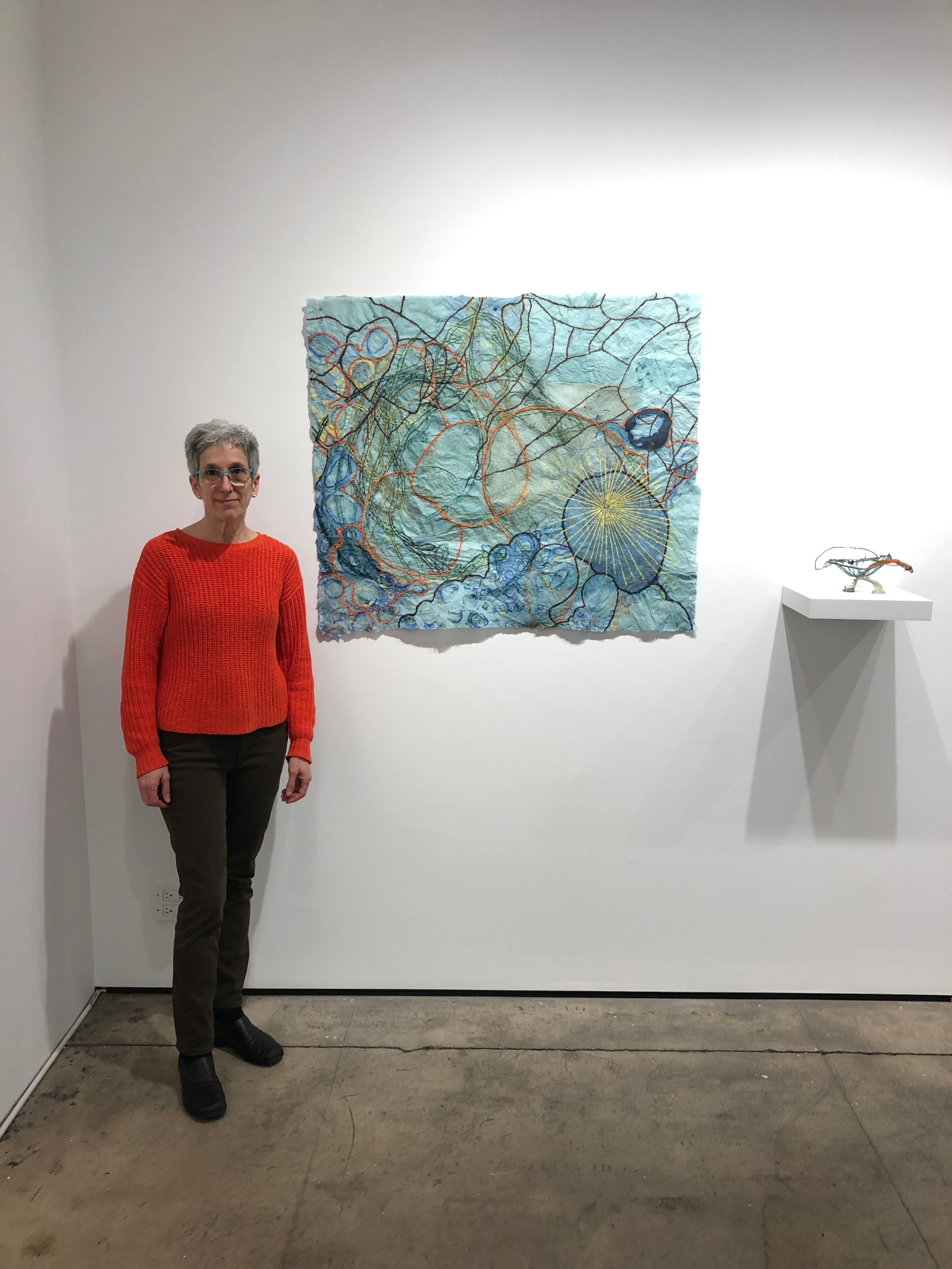 Nancy Cohen with  Dissolution  (2018) and  Momentary  (2018)