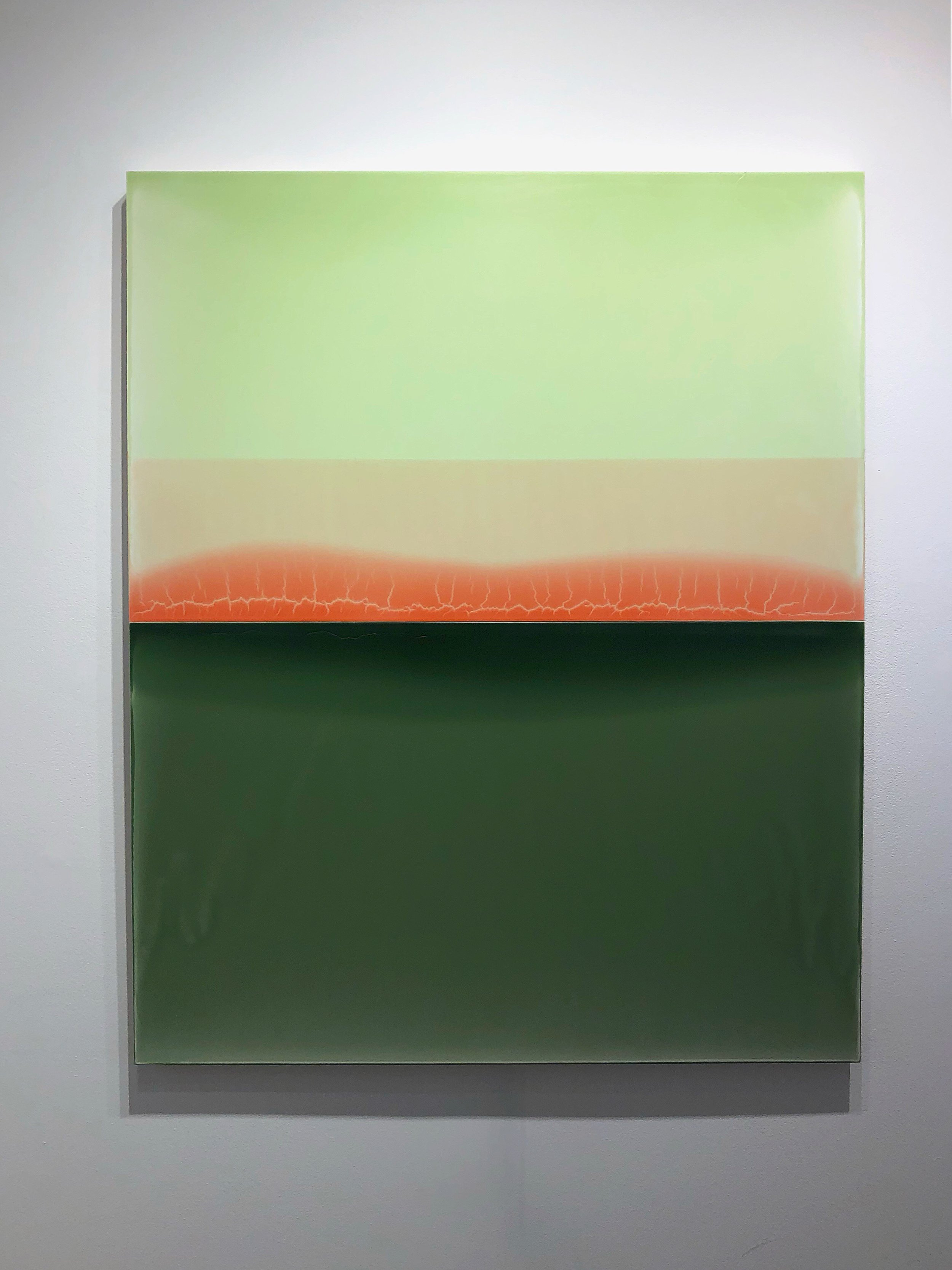 Susan English,  Glance,  2018, tinted polymer on aluminum