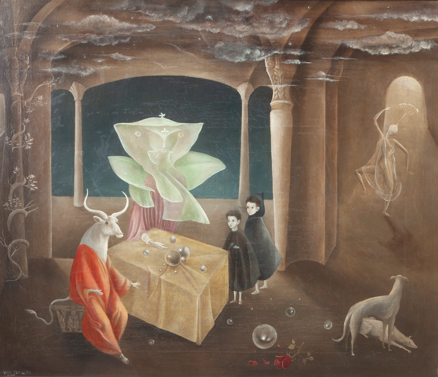 And Then We Saw the Daughter of the Minotaur! , 1953. Courtesy of Gallery Wendi Norris, San Francisco © 2019 Estate of Leonora Carrington / Artists Rights Society (ARS), New York