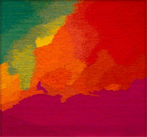 """Nebula 17, wool tapestry 18"""" x 19"""""""
