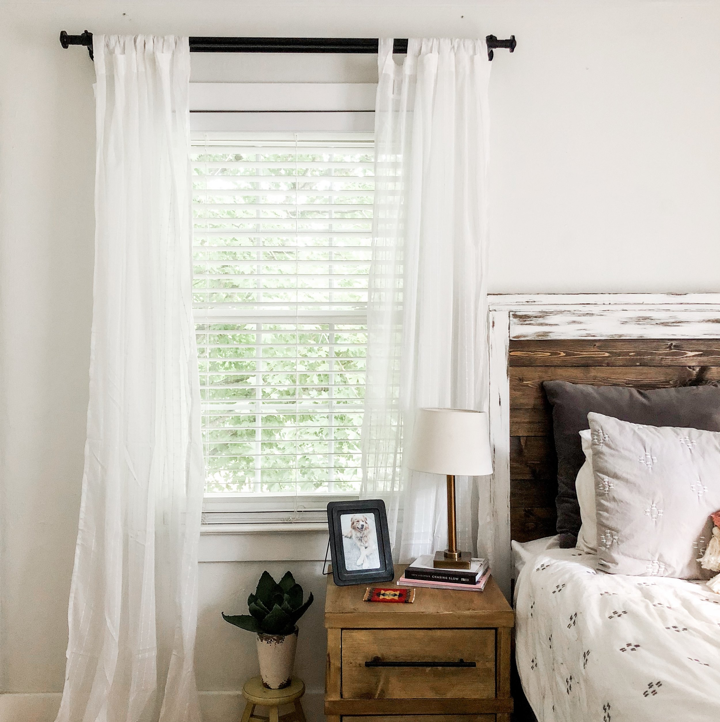 Curtains:  Ikea  Curtain Rods:  Ikea