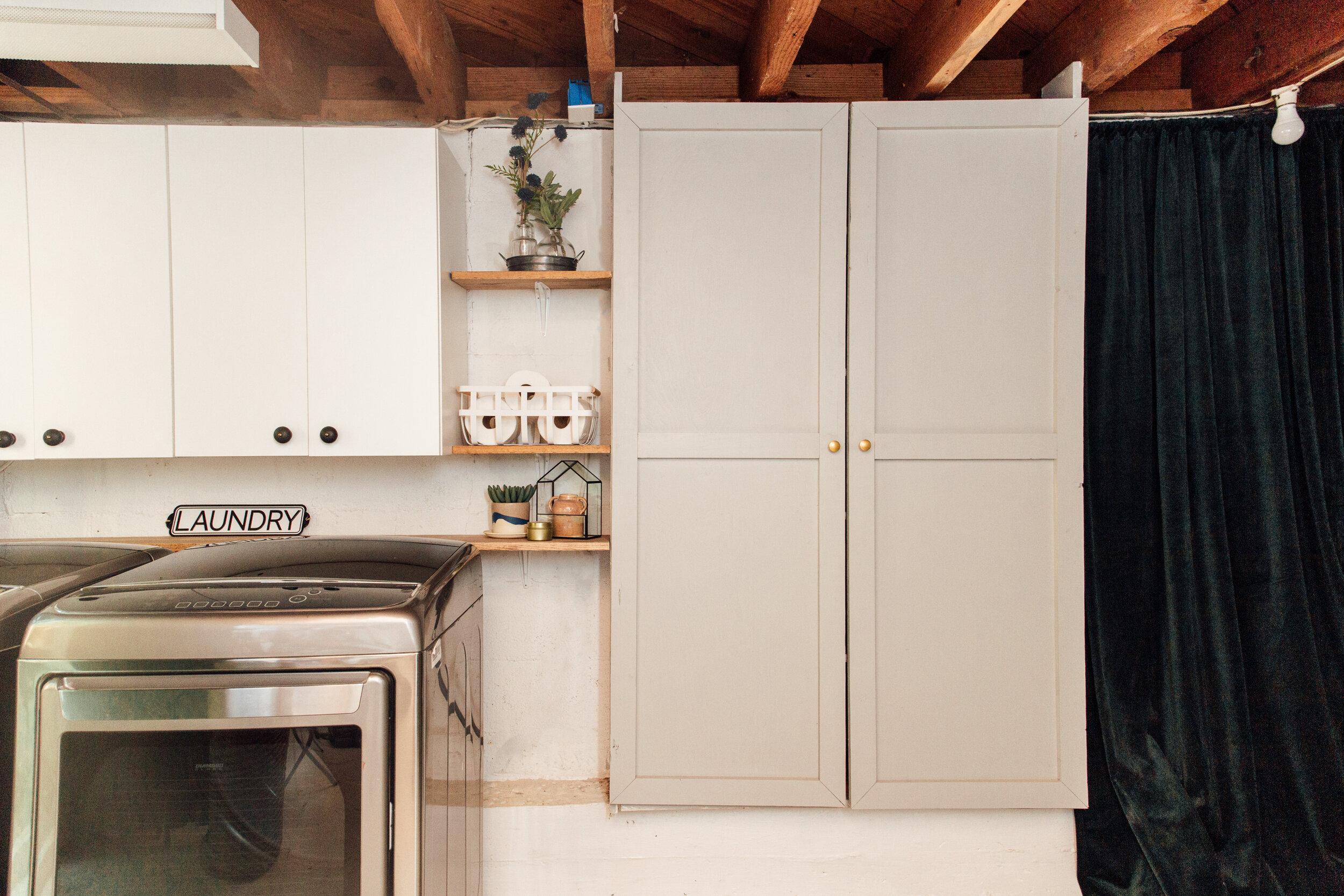 Easy Diy Cabinet Doors For Shelves The Modern Renovator