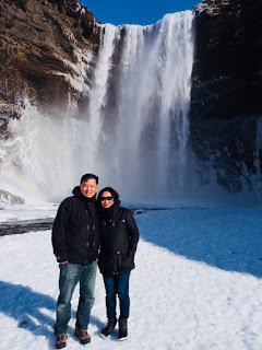 Jessica with her husband Ning in Iceland