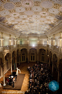 Performing in a recital at the In Spiritum Music Festival in Portugal