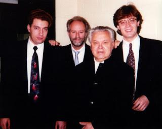 Zino Bogachek (left) and Oleg Rylatko (far right) with Mo. Fricke