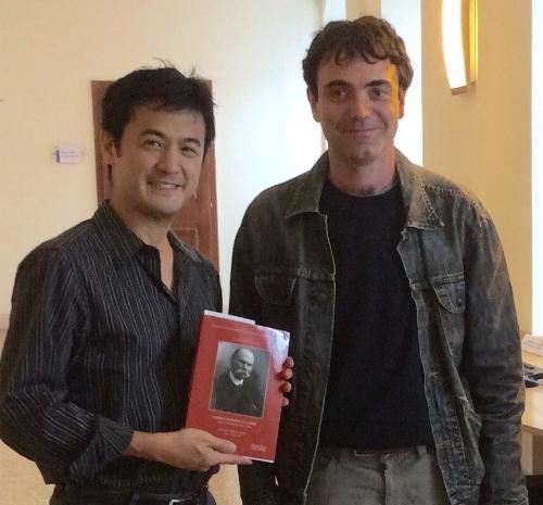 Philippe with Anzoletti's biographer, Giovanni Delama