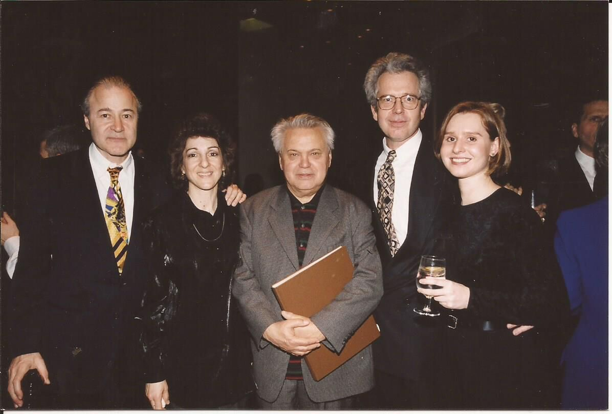 Heinz Fricke and KCOHO musicians at a post-performance party