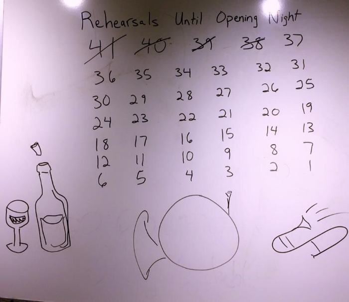 Ring Cycle rehearsal countdown