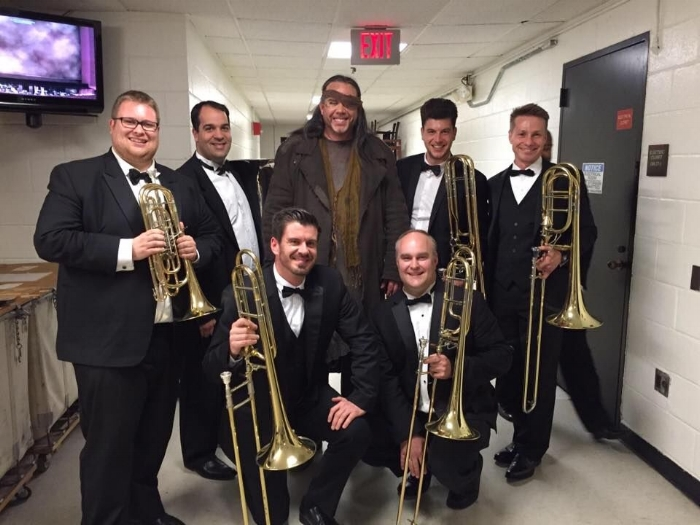 The lower brass section with Alan Held as Wotan