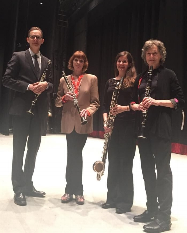 Ballerina (and former clarinet player) Suzanne Farrell with the clarinet section