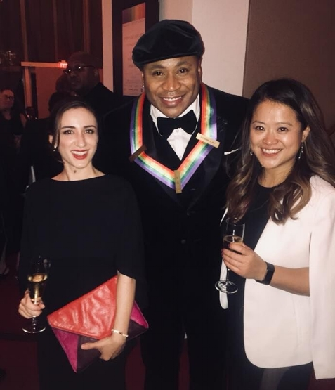KCOHO musicians Ally Goodman and Wei-Ping Chou with 2017 Kennedy Center Honoree LL Cool J