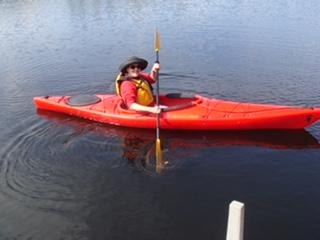 Meg Kayaking in Maine