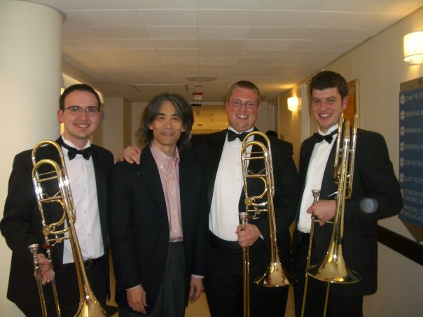Civic trombone section with Kent Nagano