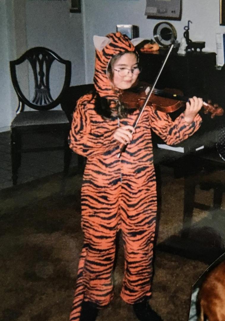 Age 8, Halloween performance