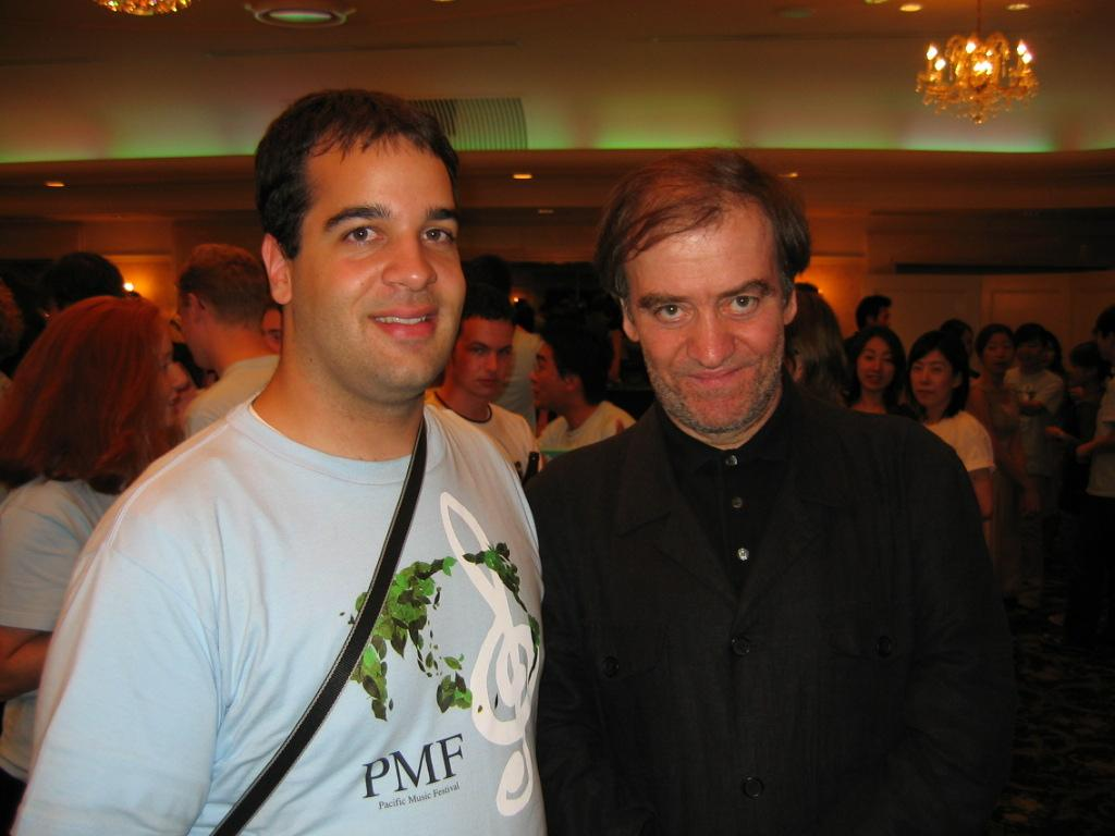 with Valery Gergiev, Japan, 2004