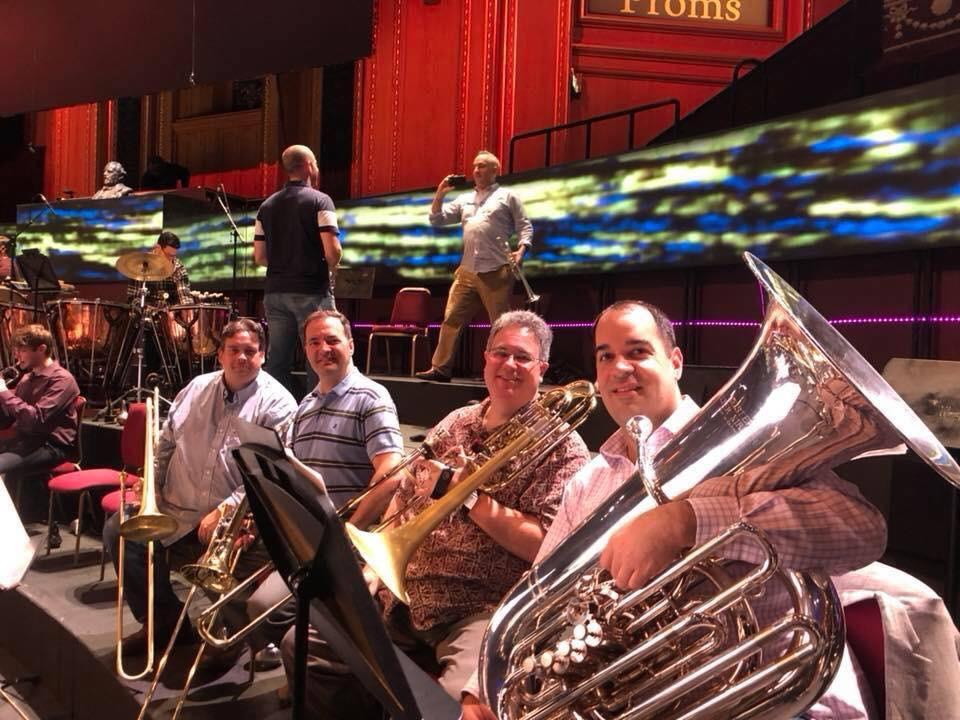 With the BSO on tour at the Proms in Royal Albert Hall, 2018