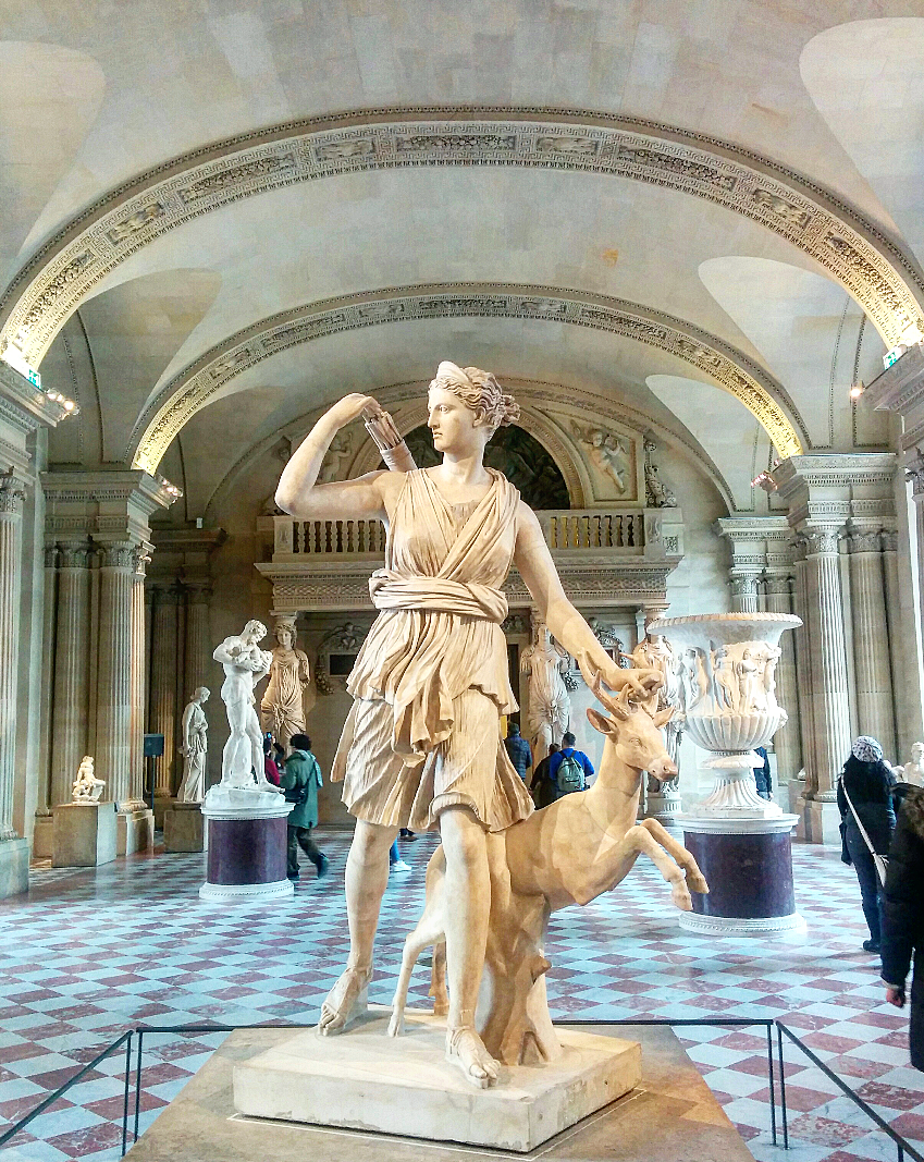 Diana, Roman Goddess of hunting, the moon, and nature.