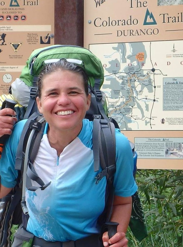 Christie at the completion of solo hiking the CT