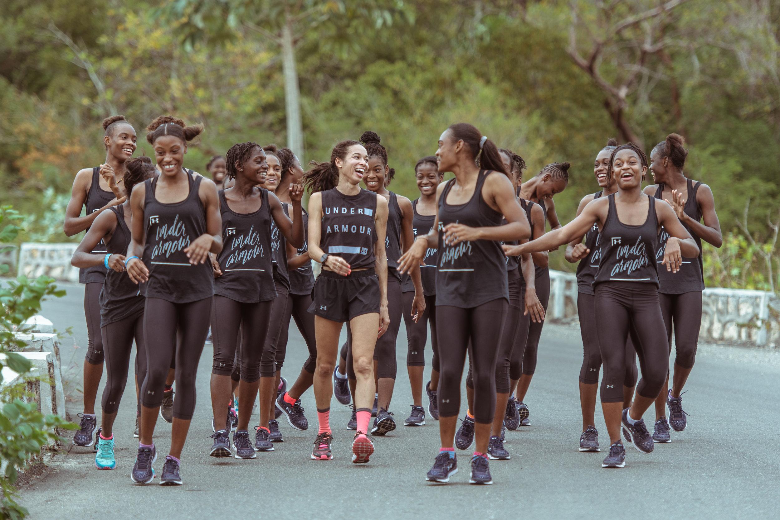 Aisha Praught-Leer at Hydel High in Jamaica