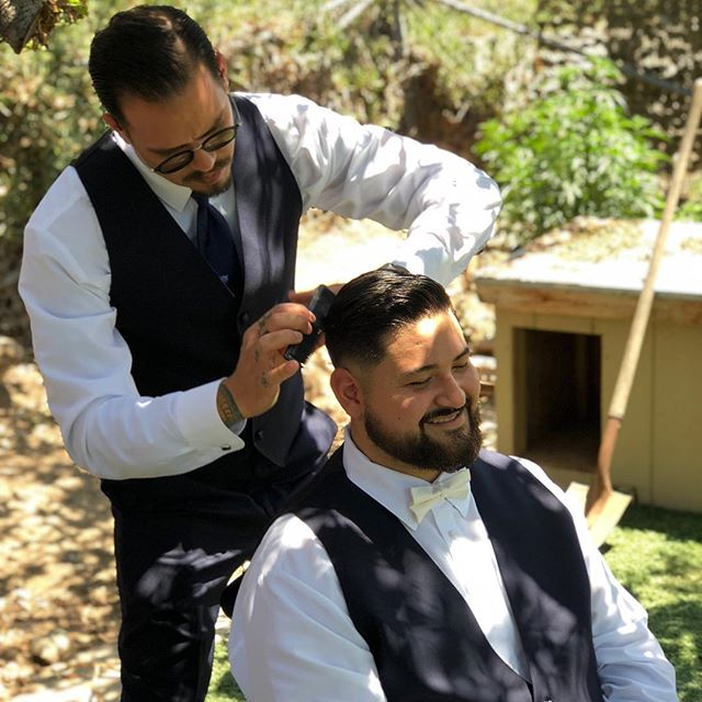 Some barber love for you guys. We love you Mikey and Whitney Valdivia! Congratulations! 🎉🍾🎊