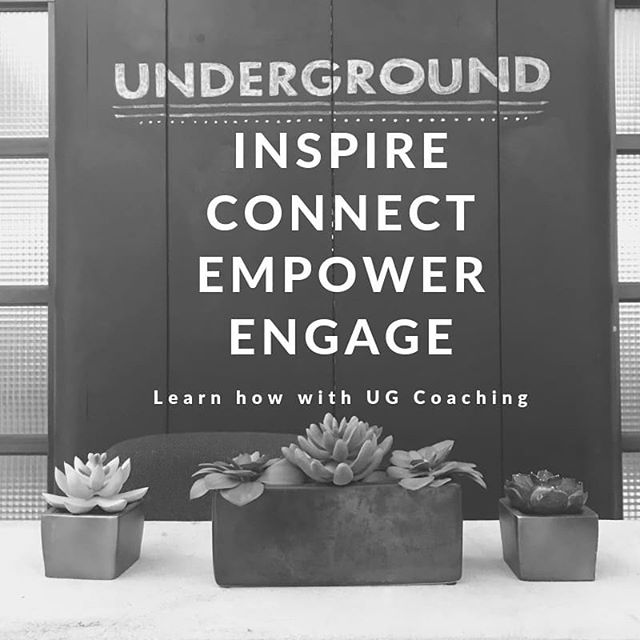 Underground Coaching offers one-on-one and group coaching.  Learn about how to better inspire, connect, empower and engage with Underground Coaching. Check out the link in our bio. #ugcoach #tampaunderground