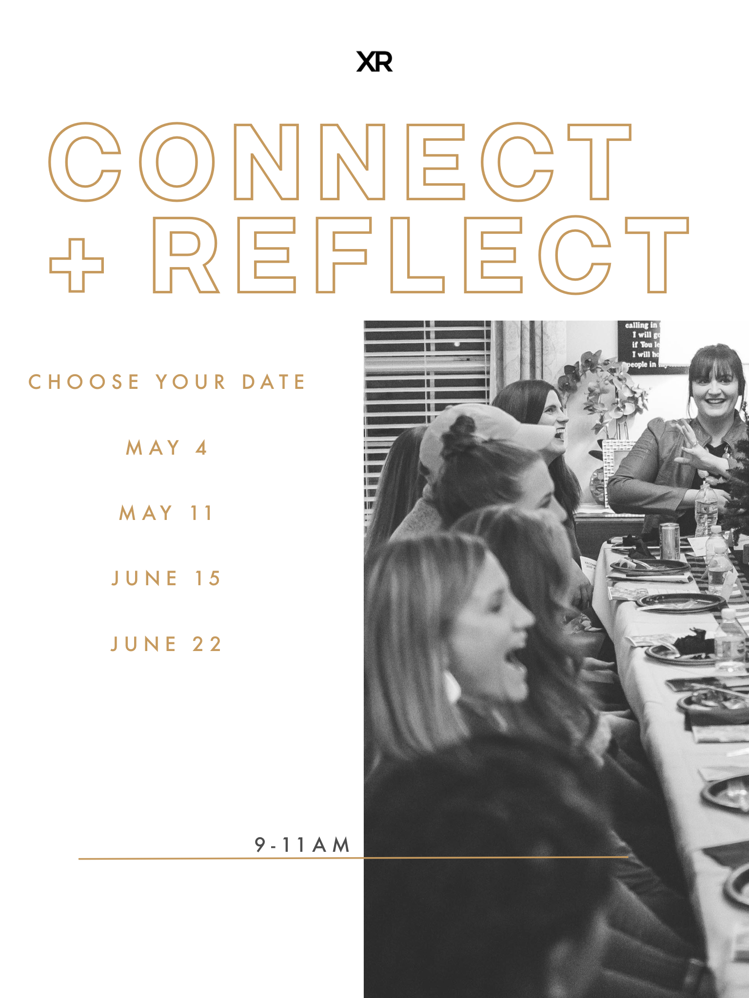 Click on the image to sign up for a seat at one of the four Connect + Reflect summer breakfasts via the Google sheets docs.