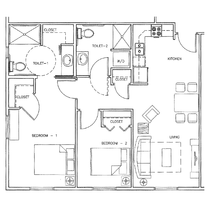 Amarado | 2 bedroom | 851 Sq. Ft.