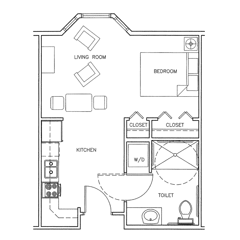 Nantucket | Studio | 395 Sq. Ft.