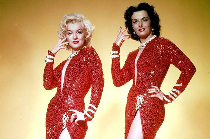 Marilyn Monroe and Jane Russell in 'Gentlemen Prefer Blondes' (1953) [Source: 20th Century Fox]