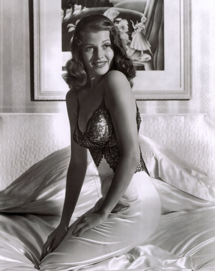 Hayworth posing for Life. [Source: Life Magazine]