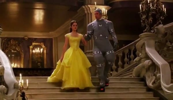 Emma Watson and Dan Stevens doing motion capture for 'Beauty and the Beast' [Source: Walt Disney Pictures]