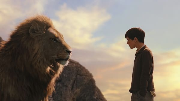 The Christ-like figure Aslan in 'The Lion, the Witch, and the Wardrobe' [Source: Walt Disney Pictures)
