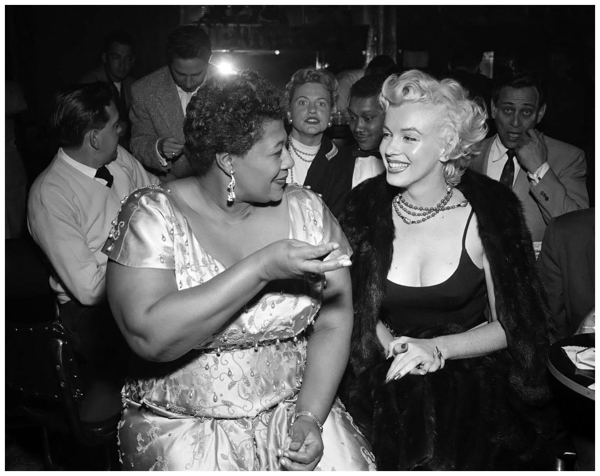 Ella Fitzgerald and Marilyn Monroe [Source: Unknown]