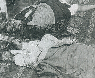The mutilated bodies of Madame and Geneviéve Lancelin