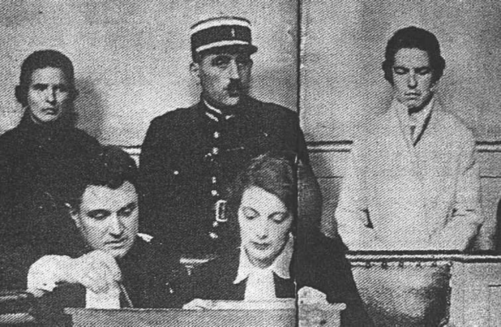 Léa (left) and Christine (right) at their trial