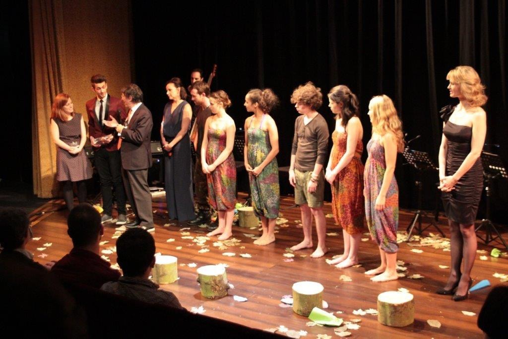 FOREST BOY winning the S&S Award for Best New Musical at The Other Palace (2013).