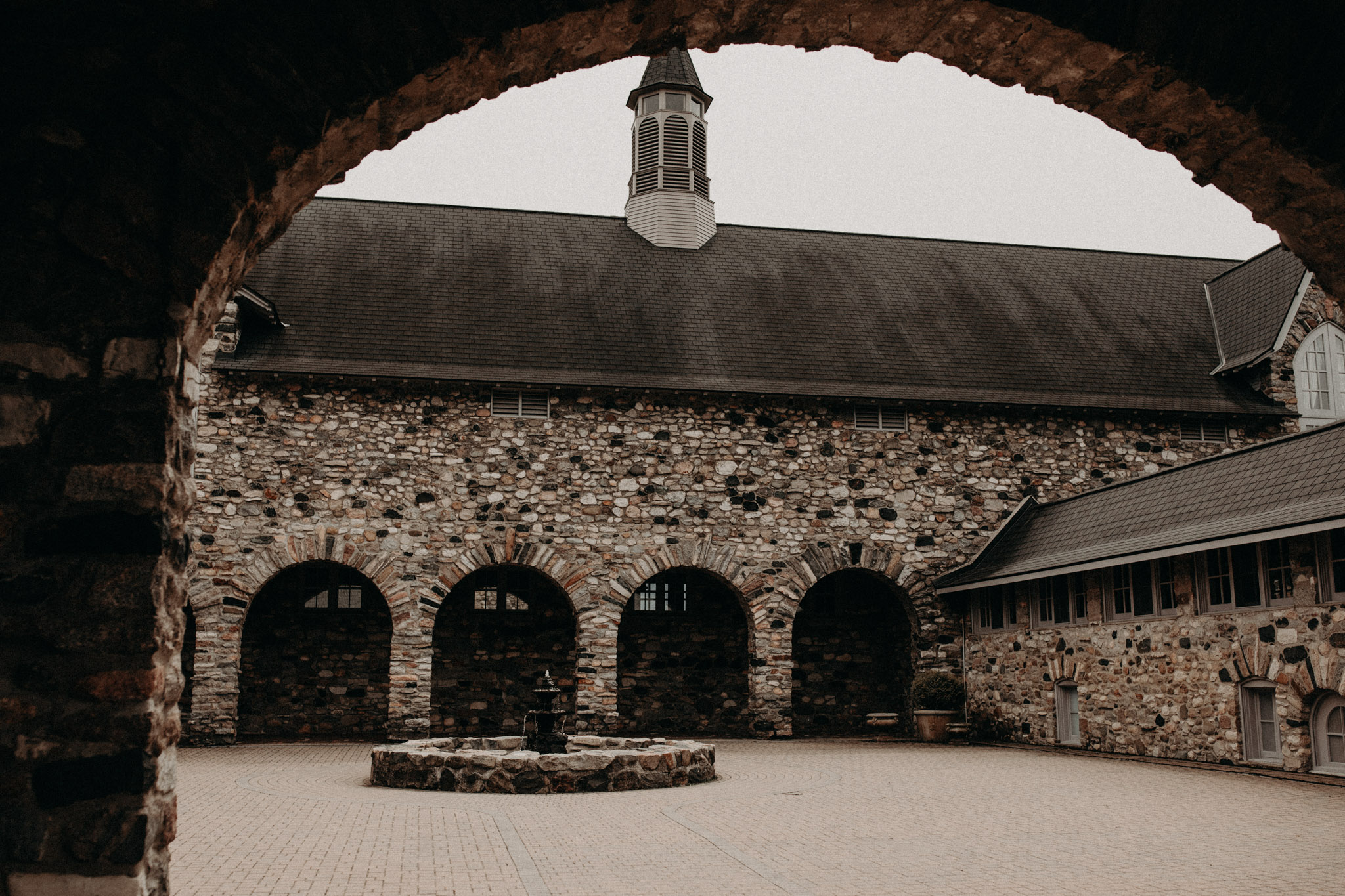 Castle Farms Wedding Venue stone wall with arches